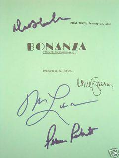 Script Michael Landon Dan Blocker Lorne Greene Roberts Reprint