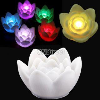 Light Lamp Romantic 1pcs Changing 7 Color Lotus Flower LED Light