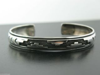 Tommy Singer Sterling Silver Cuff Bracelet Navajo Made Jewelry 16g 925