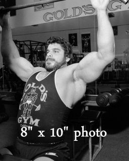 Lou Ferrigno Bodybuilder Photo Working Out at Golds Gym