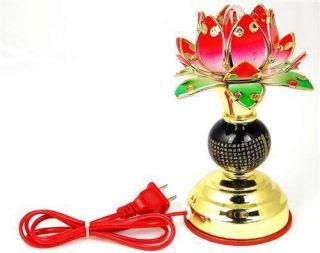 LOTUS ALTAR LIGHT Flower Electric Lamp Lantern Decor Buddhist Heart