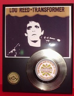 Lou Reed 24K Gold Record Display R R Music Gift Limited Edition Free
