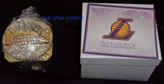 Los Angeles Lakers 2010 NBA Championship Ring Replica Paperweight