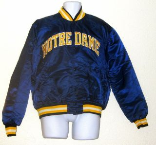 FIGHTING IRISH EARLY 80s STARTER JACKET XLARGE TIM BROWN LOU HOLTZ