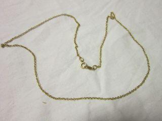Vintage 10 K Gold Chain Fine Ladies Necklace Pretty