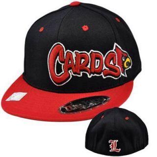 NCAA Louisville Cardinals Cards Top World Flex Fit Flat Bill Hat Cap