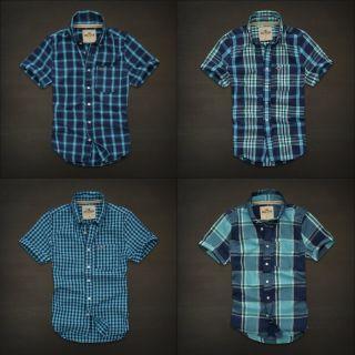 Hollister Mens Point Loma Plaid Shirt Short Sleeve NWT