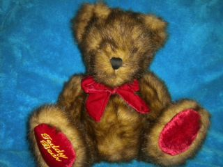 Dan Dee Collectors Choice Plush Stuffed Sitting Brown Tan Red Teddy