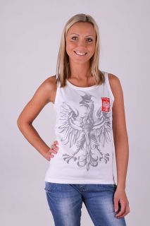 Ladies T Shirt Vest Polska Poland London 2012 Volleyball Fan