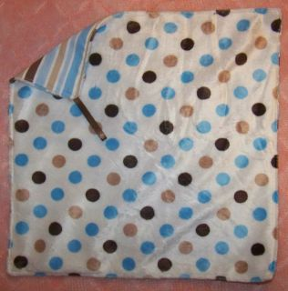 Baby Blanket Security Lovie Personalized Monogrammed Boy Blue