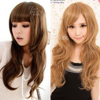 Party Cute Bangs Natural Curly Wavy Long Hair Wigs S0005 LW774A