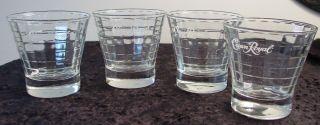Crown Royal whiskey lowball bar rocks glasses cube pattern 3 5 x 3 5