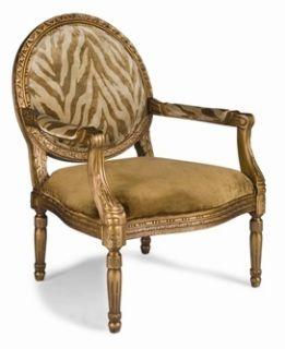 Louis XVI Gold Medallion Back Chair