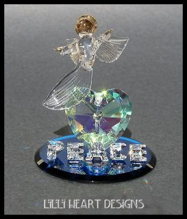 Angel of Peace and Love Made from Swarovski Crystal Retired