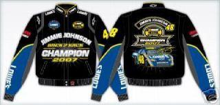 NASCAR LOWES JIMMIE JOHNSON 2007 CHAMPIONSHIP DRIVERS UNIFORM JACKET