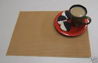 Set of Four Red Longport Vinyl Placemats New