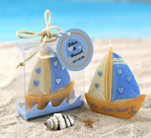 50 Love Boat Wedding Bomboniere Favour Gift Candle