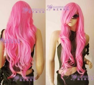 2011 New Cosplay Long Pink Curly with Hair Fashion Wig 86
