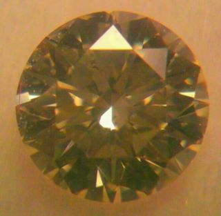 Lt Fancy Yellow Diamond 32 Carat 4mm Round Cut Loose Stone