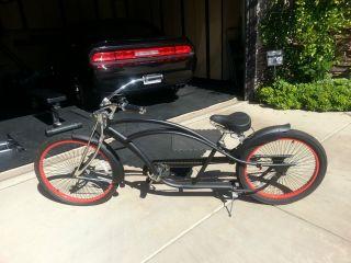 Micargi Stretch Lowrider Beach Cruiser Bike Bicycle Black Matte GREAT