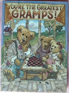 Lowenthal Boyds Bears Cute Grandpa Birthday Card