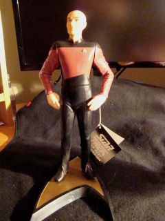 Star Trek Captain Jean Luc Picard 11 Figurine with Stand 1992 Vintage