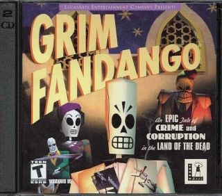 Grim Fandango by LucasArts PC Game CD ROM Adventure New SEALED
