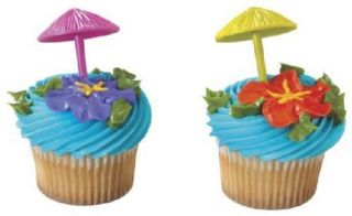 Picks Cake Toppers Decorations Party Supplies Luau Beach 24