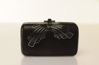 Judith Leiber Lucrezia Crystal Bow Side Lock Rectangle Clutch $1795