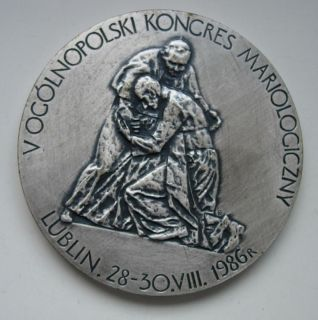 Pope John Paul II Visit to Lublin Poland Medal