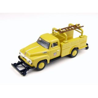 HO Scale Up Union Pacific F 350 Utility Truck w Hi Rail Wheels RTR