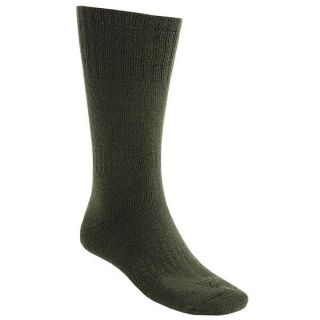 Pair Lorpen 40% Italian Merino Wool Hunting Socks Large Green 2nds