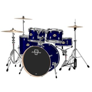 Ludwig Element 5 pc Power Drum Set Metallic Deep Blue Kit New + HW Pk