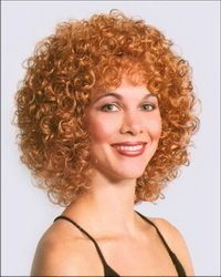 Lucy Wig 50s 70s Auburn Black Brown Blonde Woman Long Curly Curl