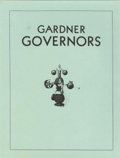 Gardner Governors Brochure Steam Traction Engine Quincy Illinois
