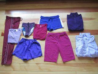 Lot Womens M Athletic Pants Shorts Shirts Jacket Champion Danskin