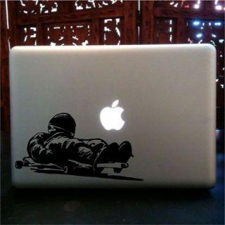Downhill Street Luge Steering MacBook Skin Vinyl Decal