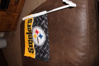 New Official Pittsburgh Steeler Auto Car Window Flag