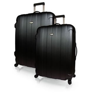 Luggage Set 2 Piece Hardside Spinner Lite Luggage Travel Set Black