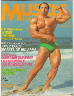 Muscle Training Dan Lurie Bodybuilding Mag Boyer Coe /1971 Mr Universe