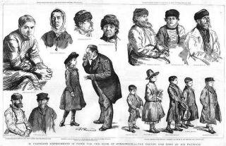 Doctor Louis Pasteur Rabies Patients Antique Print 1886