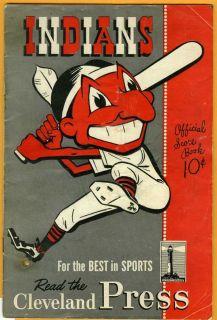 Program Cleveland Indians V St Louis Browns Erin Brew Beer Ad