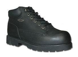Lugz Mens Drifter Steel Toe Work Boots Black Nubuck Leather MDRSTL 001