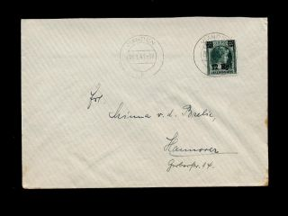 Luxemburg WW2 German Occupaion 1941 Cover 12 RP Solo