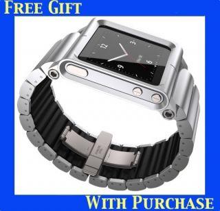 LunaTik Lynk Watch Wrist Strap for iPod Nano 6g Silver