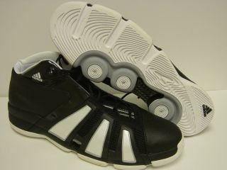 New Mens Adidas Lyte Speed GCS White Black 467853 Sneakers Shoes Sz 20