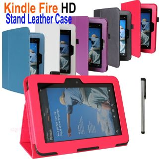 PU Leather Stand Case Cover for  Kindle Fire HD 7 inch Tablet