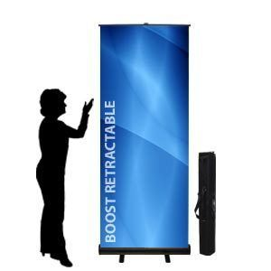 PREMIUM 3 x 80 Retractable Roll Up Banner Stand & BANNER FULL COLOR