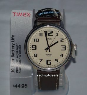 T28201 Timex Mens Classics Watch INDIGLO BIG EASY READER Cream Dial