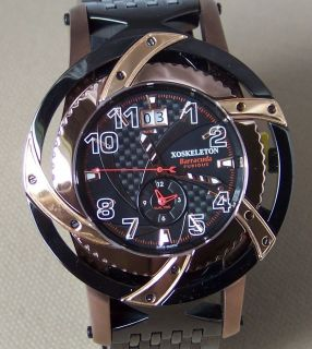 9BAF1001BCF Mens XOSKELETON BARRACUDA FURIOUS DUAL TIME Limited 79 888